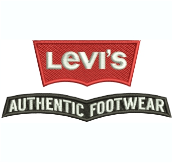 Levis Authentic Footwear Embroidery Design