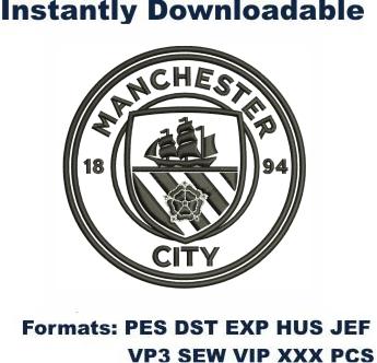 Manchester City Logo Embroidery Design