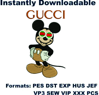 Gucci Mickey Mouse Embroidery Design