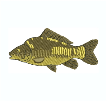 Mirror Carp Fish Embroidery Design