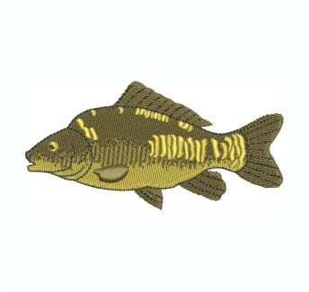 Mirror Carp Fish Embroidery Design