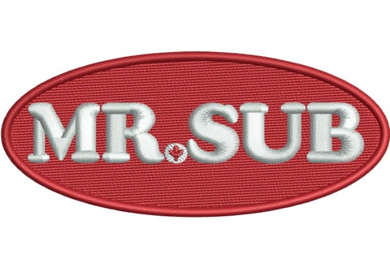 Mr Sub Logo Embroidery Designs