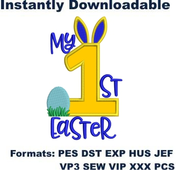 My first easter applique embroidery design