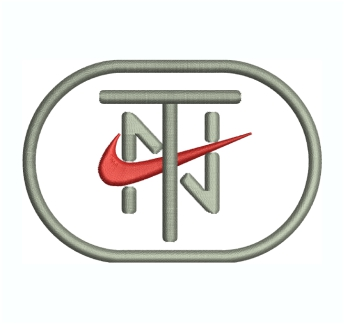 Nike TN Logo Embroidery Design