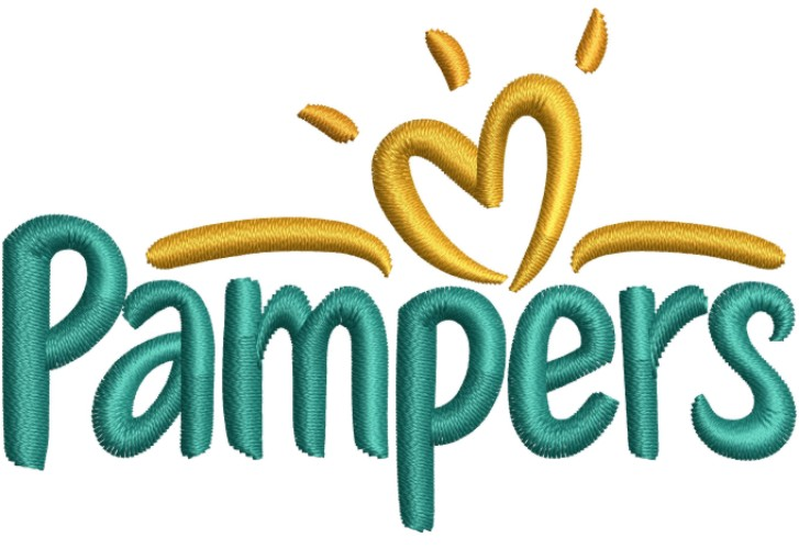 Pampers Logo Embroidery Designs