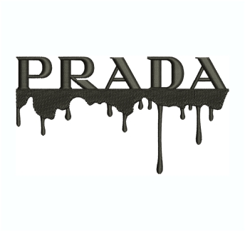 Prada Drip Embroidery Design