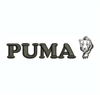 Puma Lion Embroidery Design