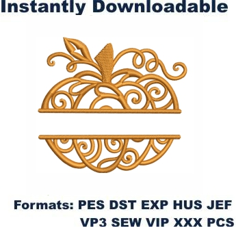 Swirled Pumpkin Embroidery Designs