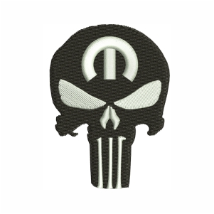 Punisher Skull Mopar Embroidery Design