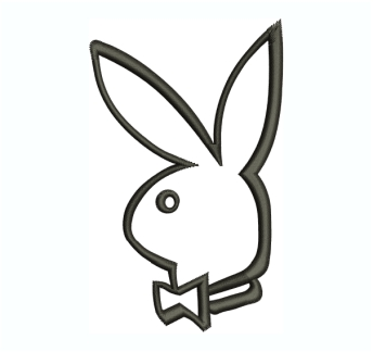 Playboy Bunny Rabbit Embroidery Design
