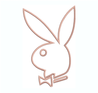 Playboy Rabbit Logo Embroidery Design