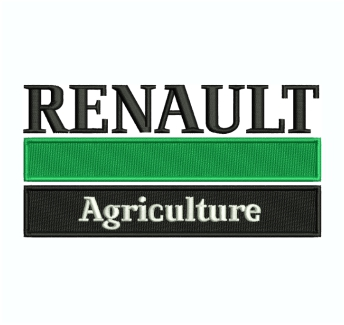 Renault Agriculture Logo Embroidery Design