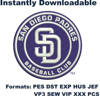 San Diego Padres logo embroidery design