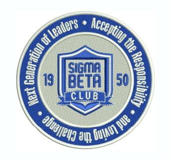 Sigma Beta Club Logo Embroidery Design