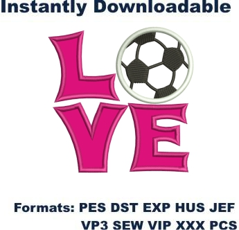 Soccer Applique embroidery design