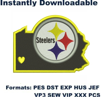 Pittsburgh Steelers NFL Logo Embroidery Design