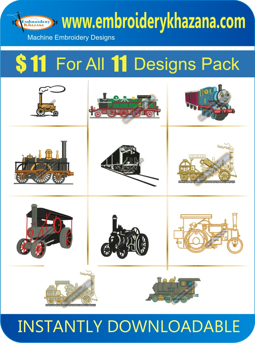 TRAIN AND ENGINE DESIGNS PACK 1