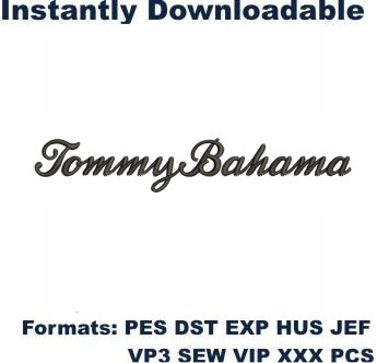 Tommy Bahama Logo Embroidery Design