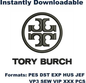 Tory Burch Logo Embroidery Design