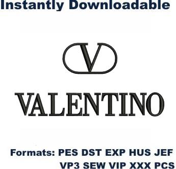 Valentino Logo Embroidery Designs