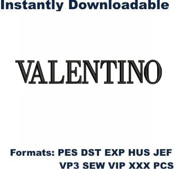 Valentino Logo Embroidery Design