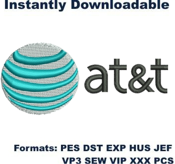 At And T Logo Embroidery Designs