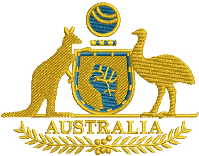 Coat of Arms of Australia Logo Embroidery Designs