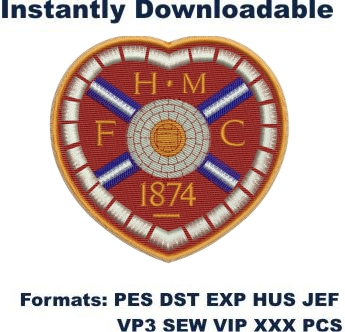 Heart of Midlothian FC embroidery design