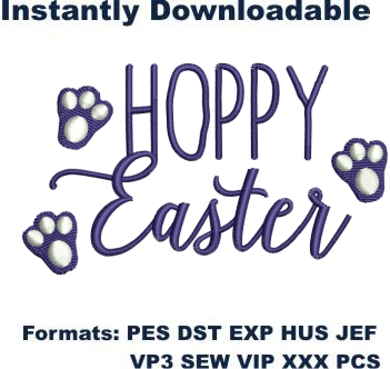 Hoppy Easter Embroidery Designs