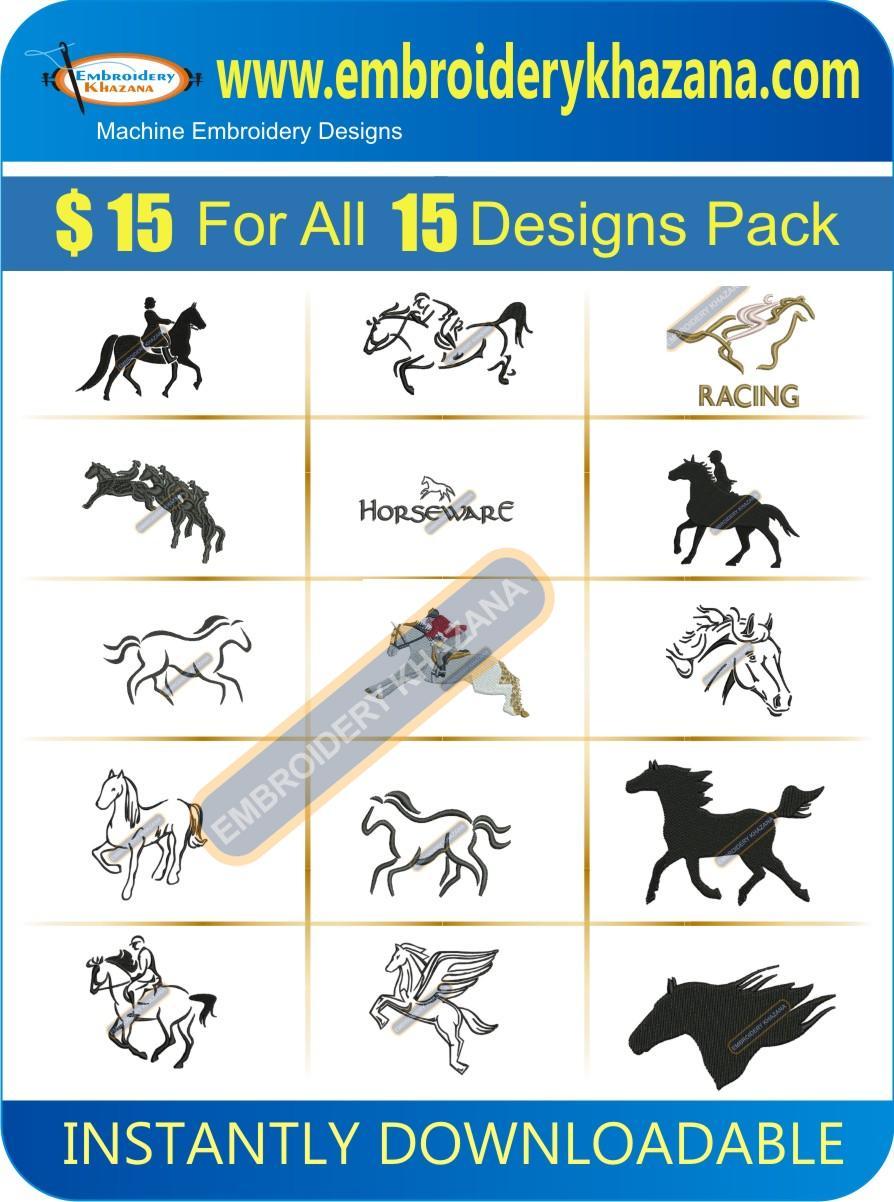 HORSE DESIGNS PACK 2