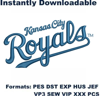 Kansas City Royals Logo Embroidery Design