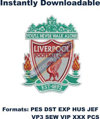 Liverpool fc embroidery design