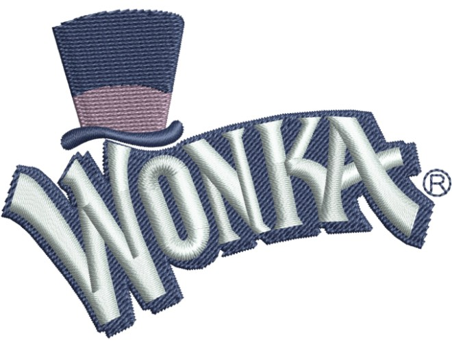 Willy Wonka Logo Embroidery Designs