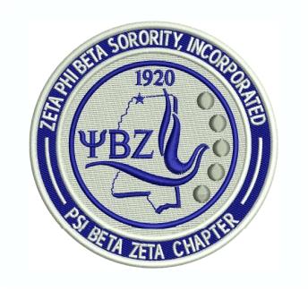 Zeta Phi Beta Sorority Embroidery Design